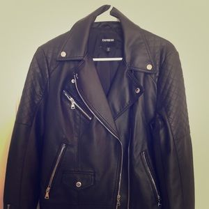 Express faux leather jacket - worn only once.